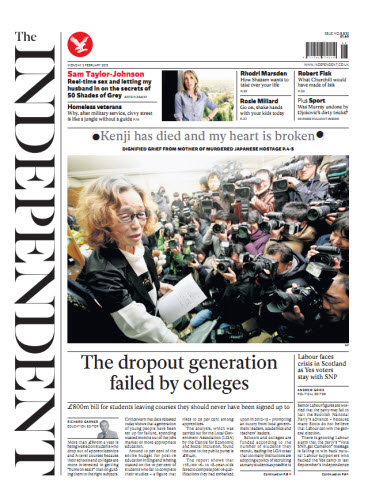 The Independent February 02 2015 free download