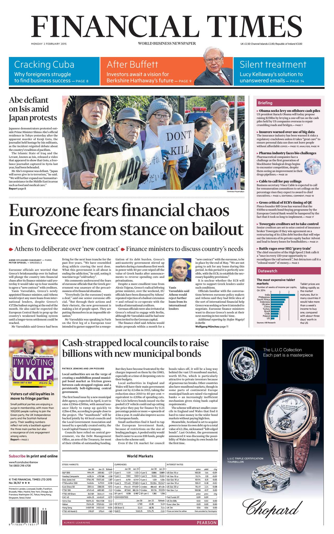 Financial Times UK February 02, 2015 free download