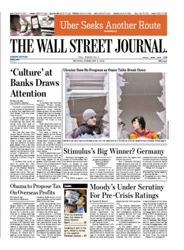 The Wall Street Journal (Europe) February 02 2015 free download