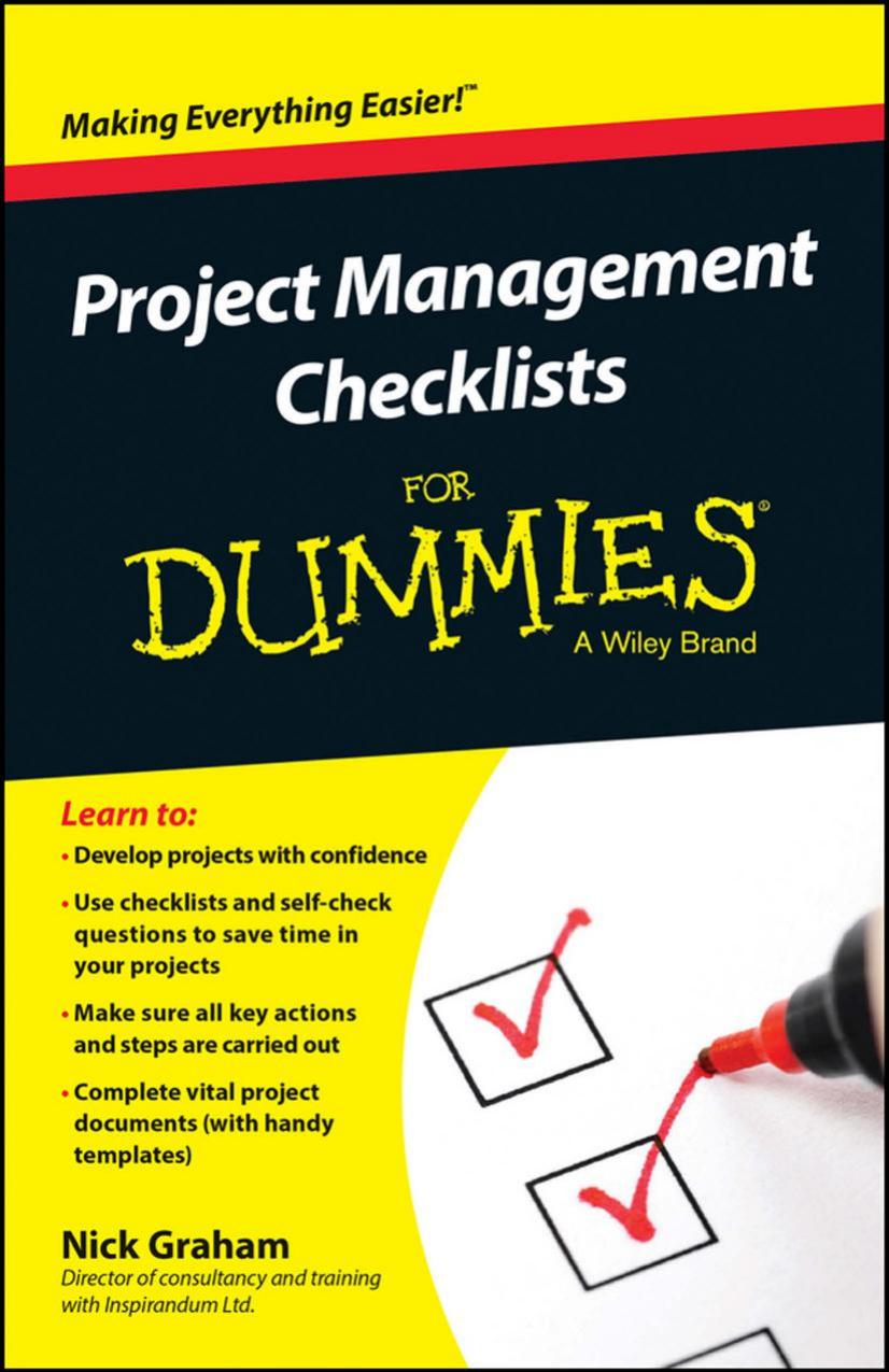 Project Management Checklists For Dummies free download