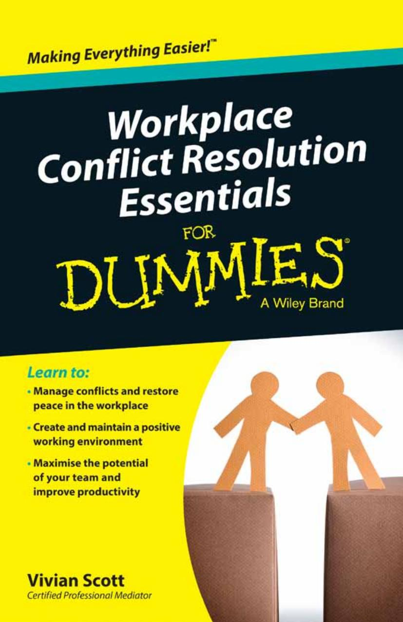 Workplace Conflict Resolution Essentials For Dummies free download