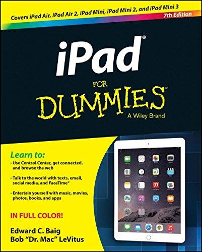 iPad For Dummies, 7th edition free download