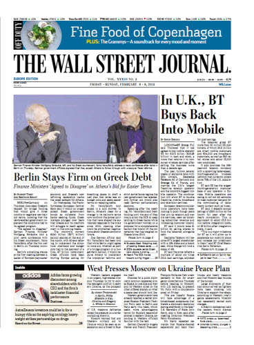The Wall Street Journal (Europe) February 06 2015 free download
