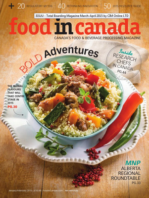 Food In Canada - January/February 2015 free download