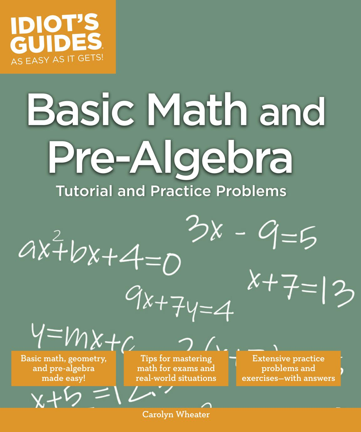 Idiot\'s Guides: Basic Math and Pre-Algebra - Free eBooks Download