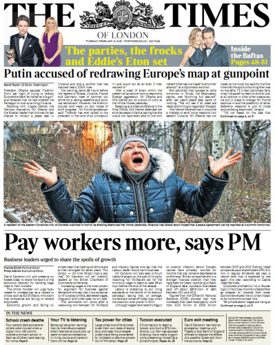 The London Times February 10 2015 free download