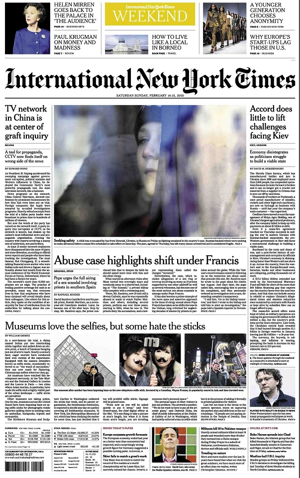 International New York Times - Saturday-Sunday, 14-15 February 2015 free download