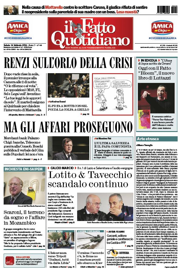 Il Fatto Quotidiano (14-02-15) free download