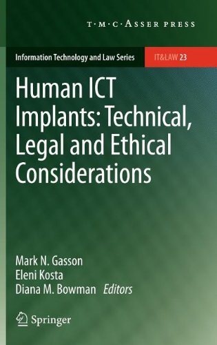 Human ICT Implants: Technical, Legal and Ethical Considerations free download