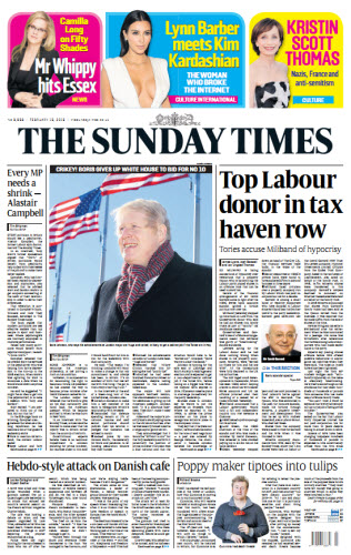 The London Times February 15 2015 free download