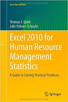 Excel 2010 for Human Resource Management Statistics: A Guide to Solving Practical Problems free download