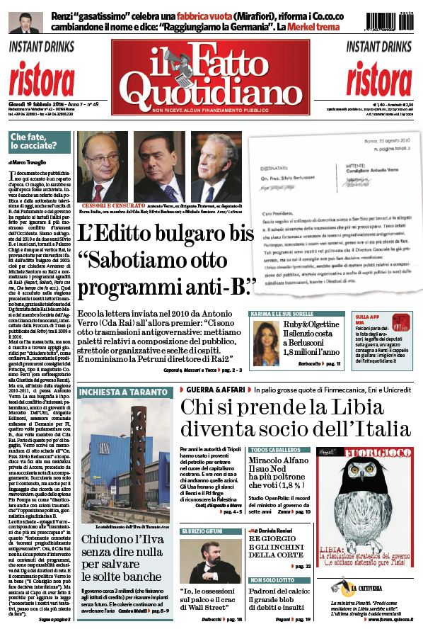 Il Fatto Quotidiano (19-02-15) free download