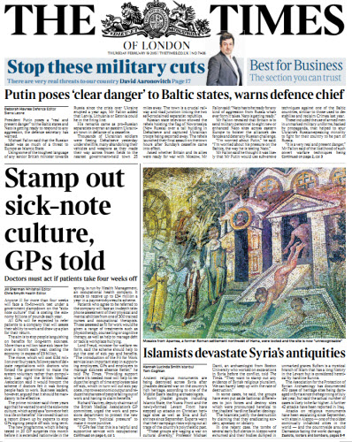 The London Times February 19 2015 free download