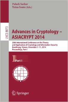 Advances in Cryptology -- ASIACRYPT 2014, part1 free download