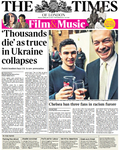 The London Times February 20 2015 free download