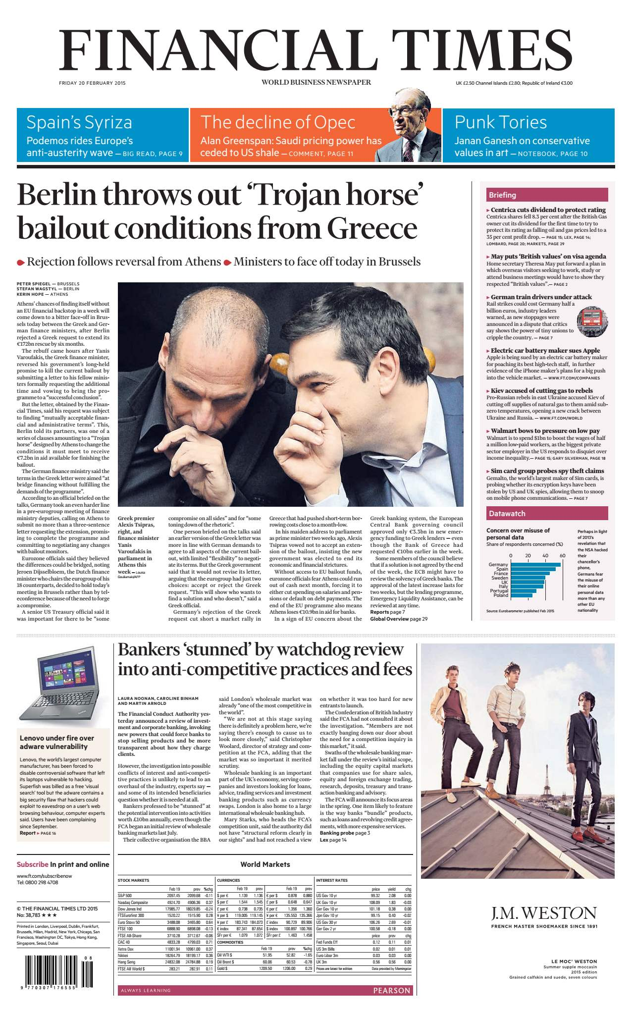 Financial Times UK  February 20, 2015 free download