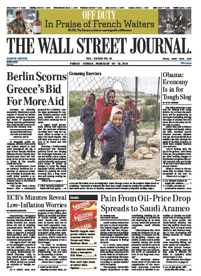 Wallstreet Journal Europe 20 February 2015 free download