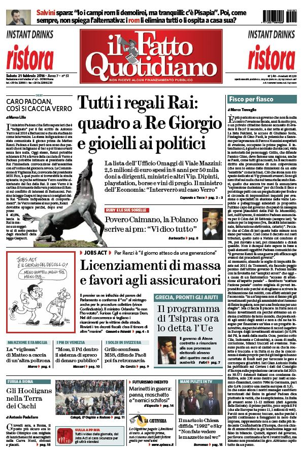 Il Fatto Quotidiano (21-02-15) free download