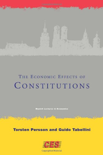 The Economic Effects of Constitutions (Munich Lectures in Economics) free download