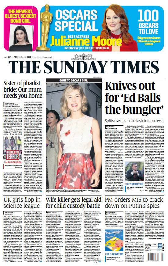 The London Times February 22 2015 free download