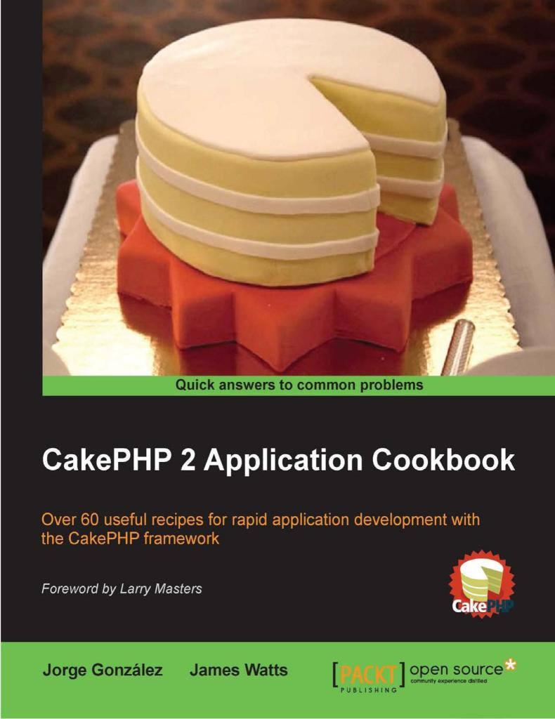 CakePHP 2 Application Cookbook free download