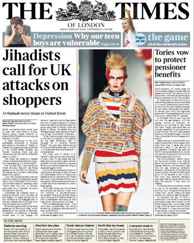 The London Times February 23 2015 free download