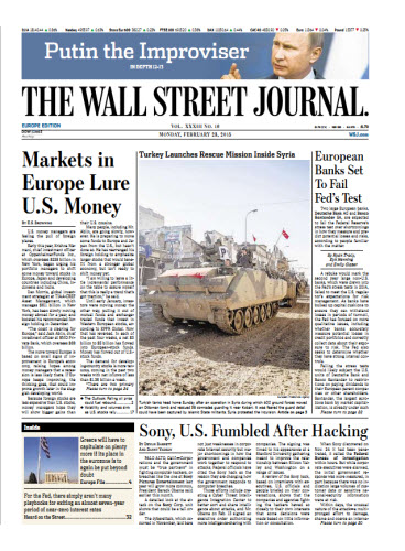 The Wall Street Journal (Europe) February 23 2015 free download