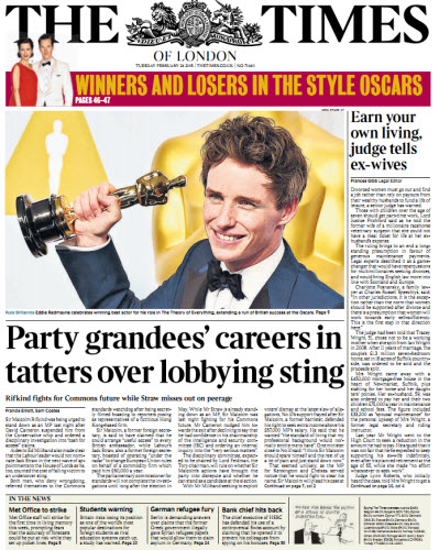 The London Times February 24 2015 free download