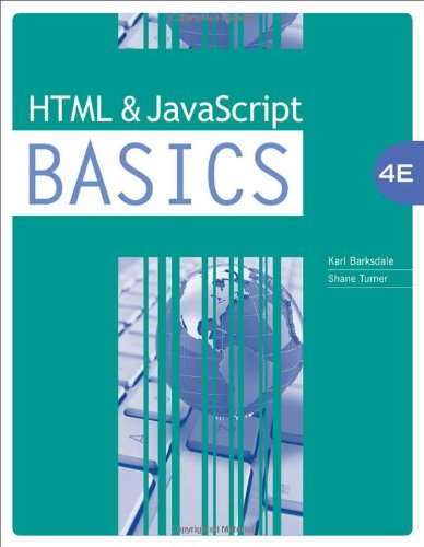 HTML and javascript Basics, 4th edition free download