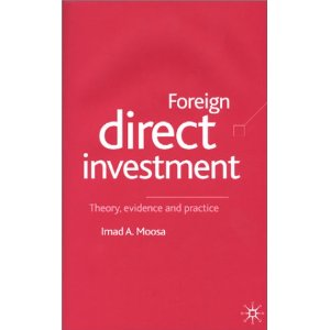 Foreign Direct Investment: Theory, Evidence and Practice free download