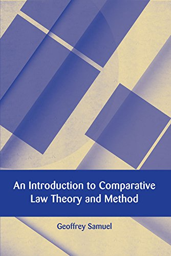An Introduction to Comparative Law Theory and Method free download