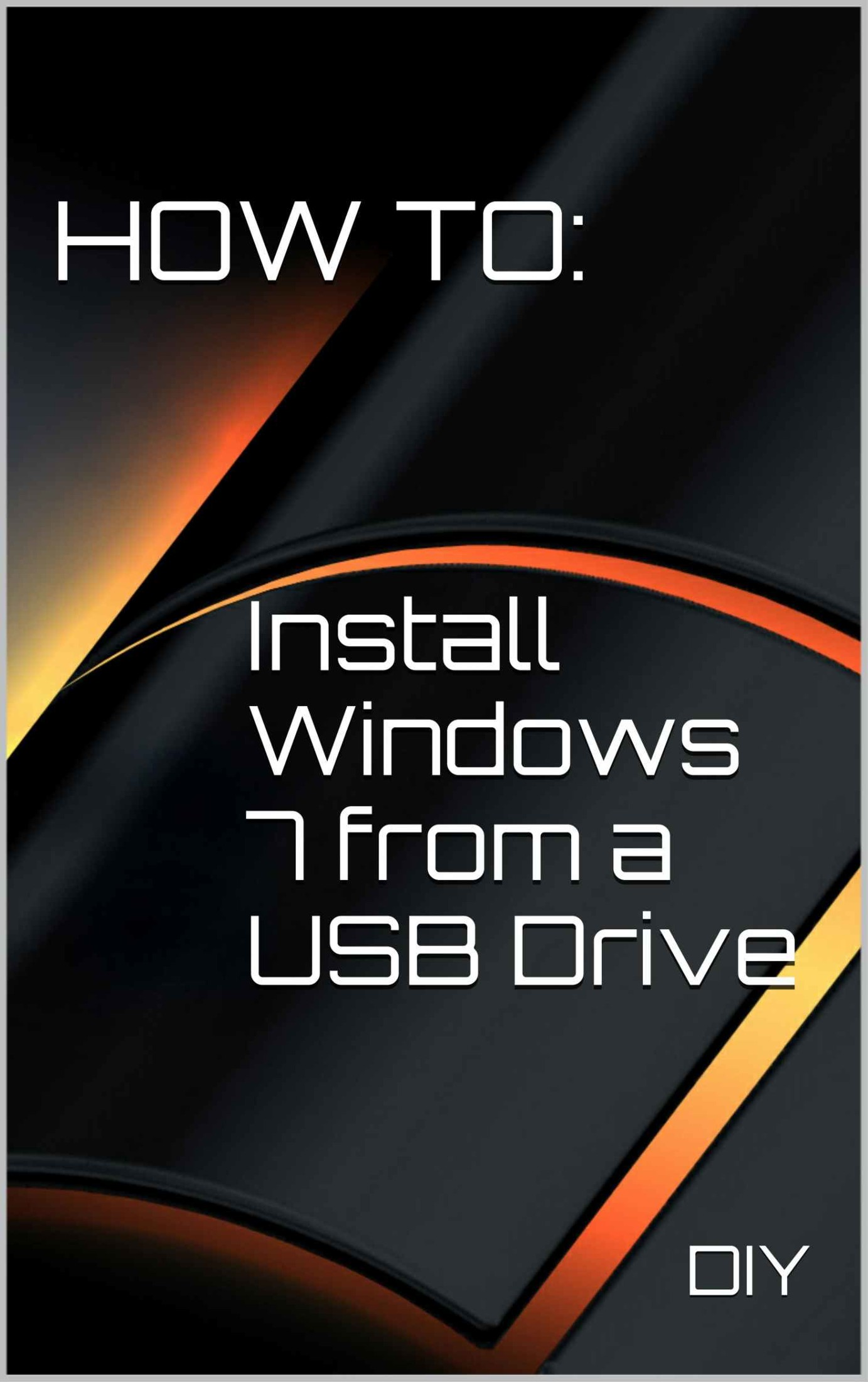 How To Install Windows 7 from a USB Drive free download