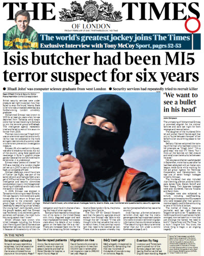 The London Times February 27 2015 free download
