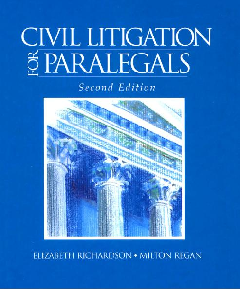 Civil Litigation For Paralegals free download