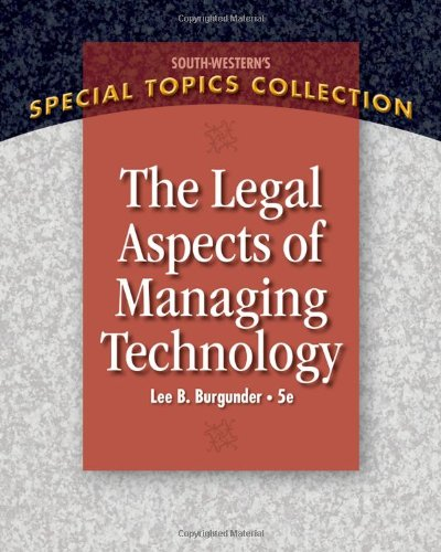 Legal Aspects of Managing Technology free download