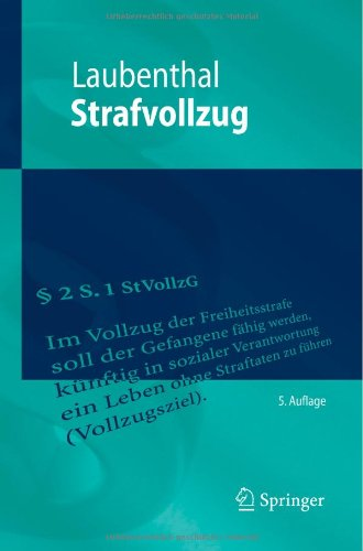 Strafvollzug (Springer-Lehrbuch) (German Edition) free download