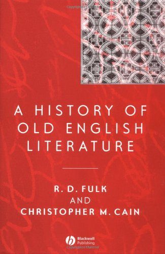 A History of Old English Literature (Blackwell History of Literature) free download