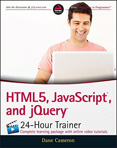 HTML5, javascript, and jQuery 24-Hour Trainer free download