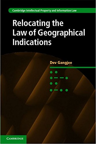 Relocating the Law of Geographical Indications free download