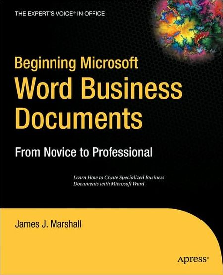 Beginning Microsoft Word Business Documents free download