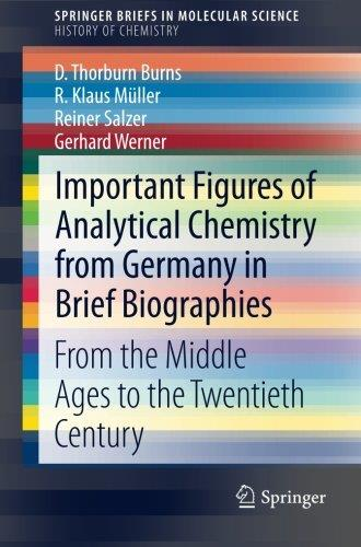 Important Figures of Analytical Chemistry from Germany in Brief Biographies: From the Middle Ages to the Twentieth Century free download