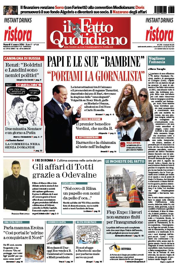 Il Fatto Quotidiano (06-03-15) free download