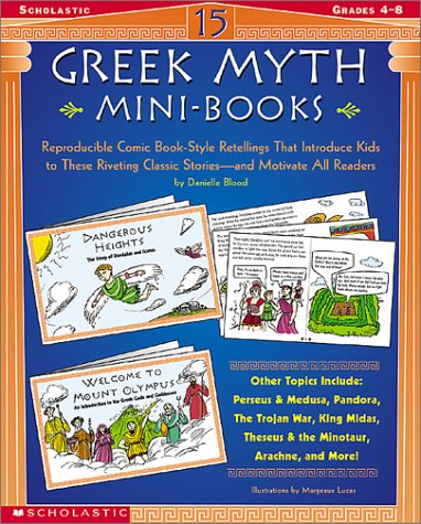 15 Greek Myth Mini-Books: Reproducible Comic Book-Style Retellings That Introduce Kids free download