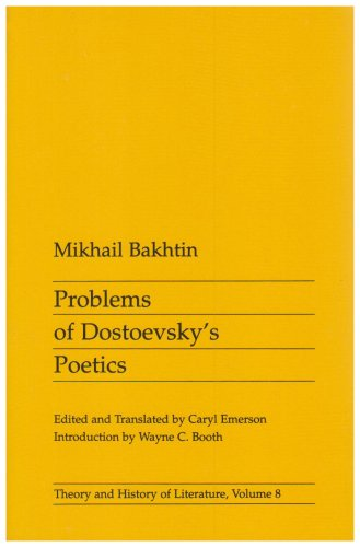 Problems of Dostoevsky's Poetics (Theory and History of Literature) free download