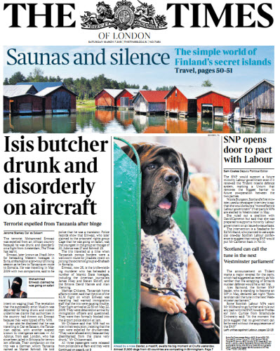 The London Times March 07 2015 free download