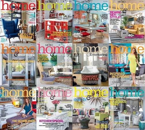 Metro Home & Entertaining Magazine 2013-2014 Full Collection free download