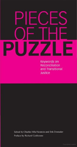 Pieces of the Puzzle: Keywords on Reconciliation and Transitional Justice free download
