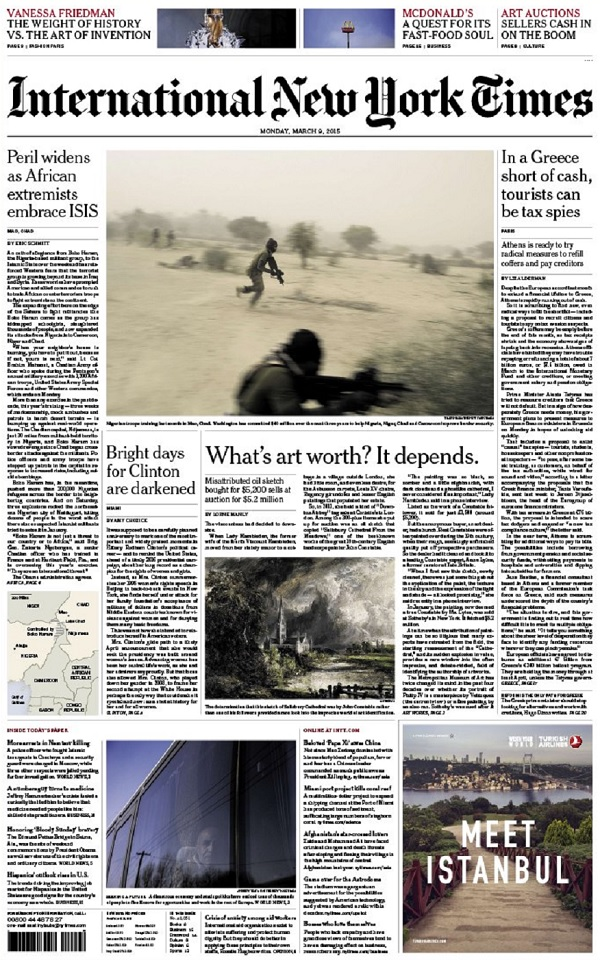 International New York Times - Monday, 9 March 2015 free download