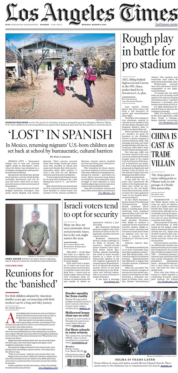 Los Angeles Times - Monday, 9 March 2015 free download