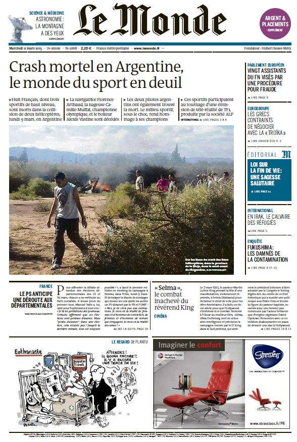 Le Monde du Mercredi 11 Mars 2015 free download